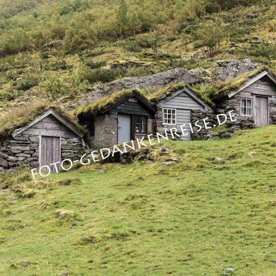 Grüne Hütten in Norwegen