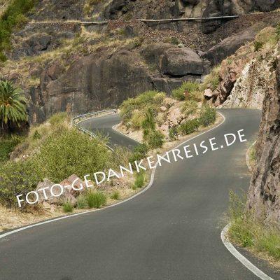 Kurvige Straßen Gran Canaria