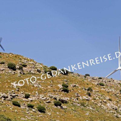 Windmühlen alt und neu Ruta de Don Quijote